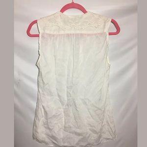 Ralph Lauren Tops - Ralph Lauren Sleeveless Top Sz 6 Linen Lace Collar